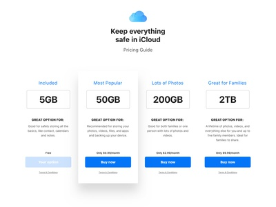 Daily UI Challenge #030 - Pricing Tables