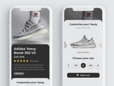 Daily UI Challenge #033 - Customize Product UI