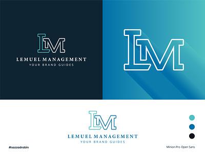 Lemuel Management | LM logo | Letter Logo design typography logo illustration minimalist logo gradient logo l logo m logo lettermark symbol icon branding monogram identity mark minimal logos logotype management logo logodesign letter logo lm logo