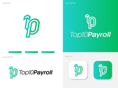Top10Payroll Logo Design creative trendy logo letter logo top10 gradient logo ui payment app logo design professional modern minimal graphic design logo design brand identity branding