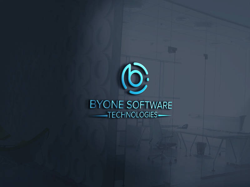 Byone Software Technologies software art clean design typography identity illustrator lettering flat minimal website logo vector graphic design brand identity adobe illustrator icon branding logo design byone software technologies