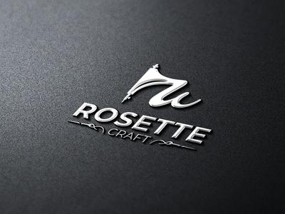 Rosette Craft Online Garments Shop Logo Design