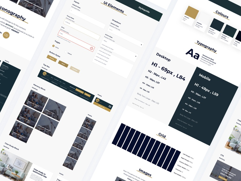 Financial Services  - Styleguide Exploration