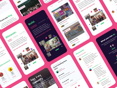 Community Building Platform branding app ux design web ui
