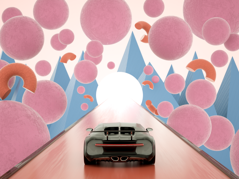 Ride and Roll iran tehran bugatti car webdesign website ui branding concept octane c4d art direction modeling illustration design 3d