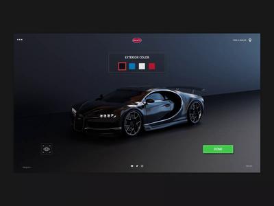 Car and Colors bugatti customize gallery iran tehran art direction concept modeling c4d 3d motion design animation color car landingpage uiux webdesign