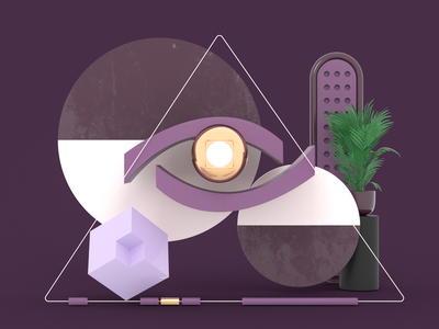 Eye redshift iran tehran purple uiux eye logo webdesign branding modeling concept design art direction illustration c4d 3d