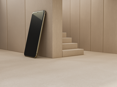Apple home appledesign lightmode phone iphone house architect home shapes minimal apple uiux web logo illustration design concept modeling art direction c4d 3d