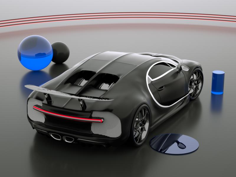 Bugatti Monster car bugatti texture iran tehran motion design octane branding concept art direction c4d design modeling illustration 3d