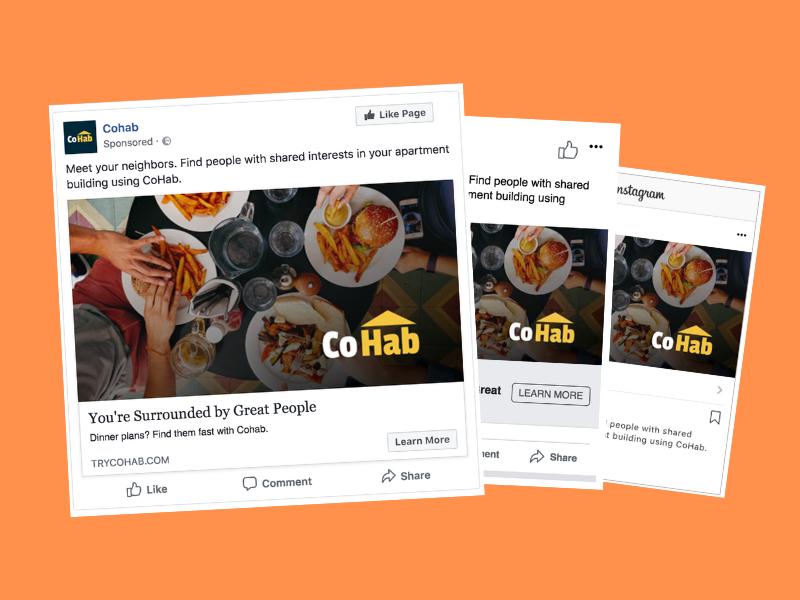 Cohab Facebook Campaign facebook social media ads instagram ads facebook ads