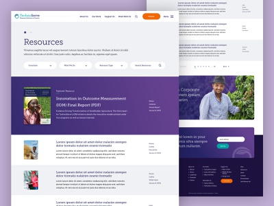 TechnoServe — Resources website landingpage non-profit nonprofit pdf library resources landing ux ui