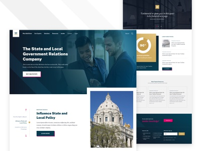 MultiState branding lobbying slider home home page design website web landing web design ux ui