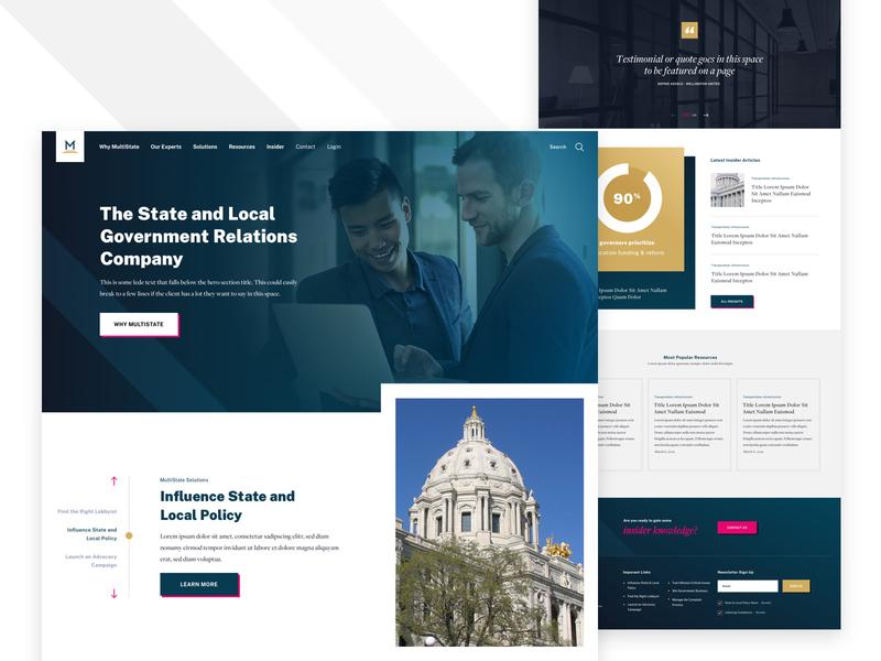 MultiState branding lobbying slider home home page design website web landing web design ux ui