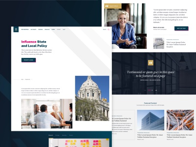 MultiState - State and Local Policy local state policy lobbying expert news quote testimonial slider web landing web design ux ui