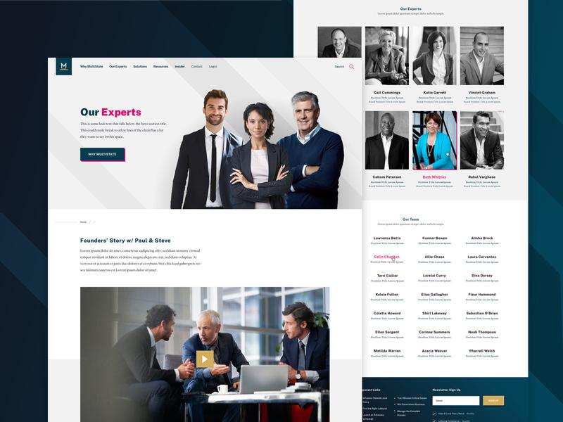 MultiState - Experts interior website video staff leadership experts lobbying web landing web design ux ui