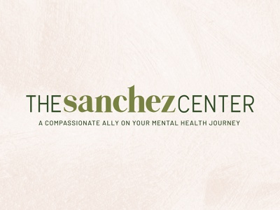The Sanchez Center typography design concept branding concept therapy rejected logo rejected logos color palette branding logo