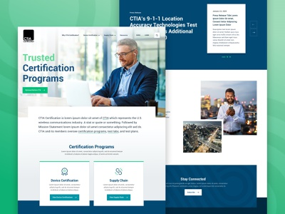CTIA Certification wireless certification home page home responsive design web website ui web design