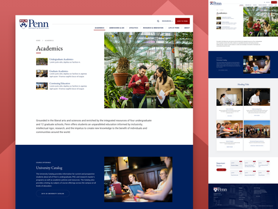 UPenn Academics calendar event card school university academics design website web landing web design ux ui