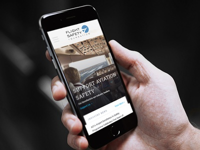 FSF Mobile safety foundation travel airplane flight ux web design mobile