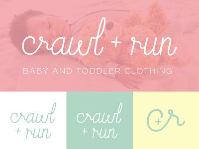 Crawl Run logo brand clothing toddlers babies run crawl logo