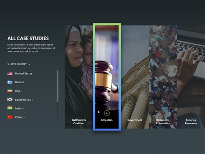 Case Studies hover web design ui ux case study scroll accordian