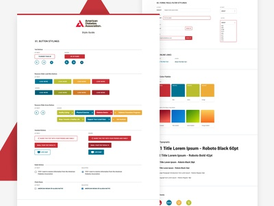 Style Guide spec sheet guide color typography icons buttons ux ui stylesheet style sheet style guide