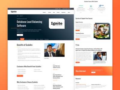 Ignite Technologies - Product landing page