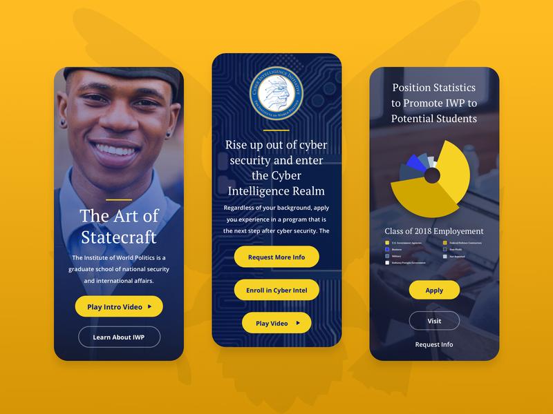 IWP Mobiles government statecraft politics higher education university school education home page responsive landing web design ui ux