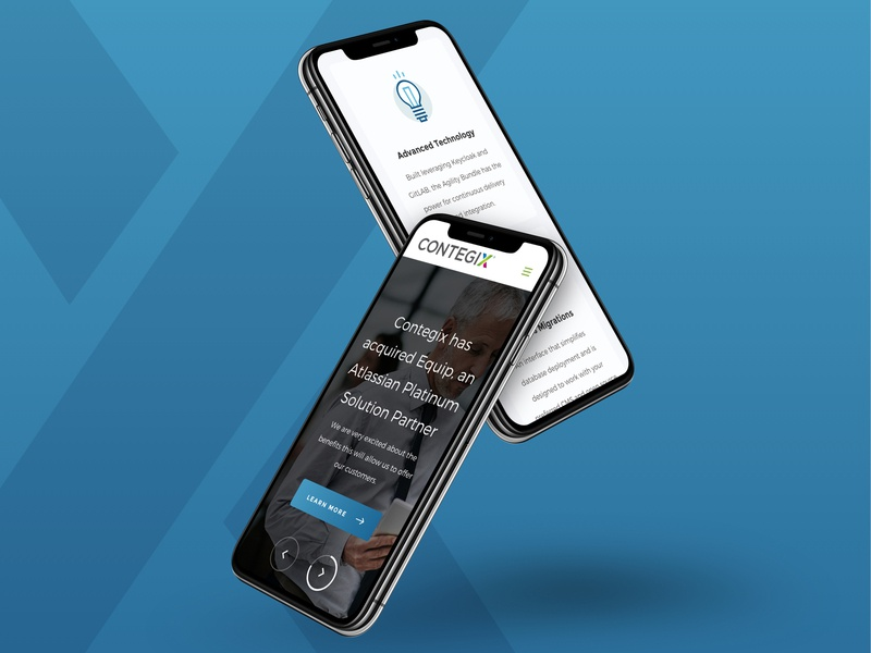 Contegix Mobiles homepage ui design flexible layouts desktop design system components responsive home page mobile design slider mobile landing web design ui ux
