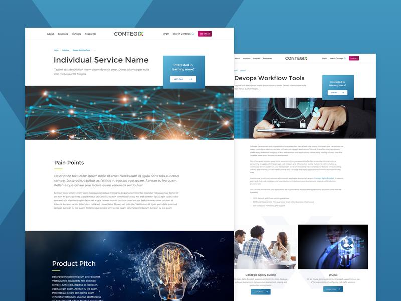 Contegix Interiors components uidesign flexible layouts desktop design system design product service responsive landing web design ui ux