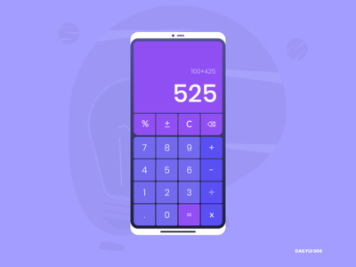 Calculator - DailyUI 004