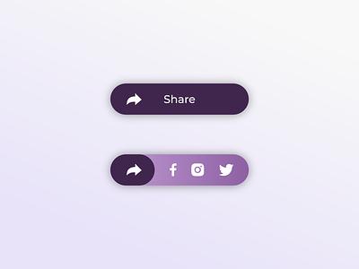 Social Share Button socialnetwork socialmedia share button socialshare dailyui 010 dailyui