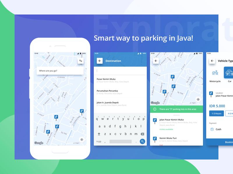 Java Parking! parking smart android mobile app design visual ux ui