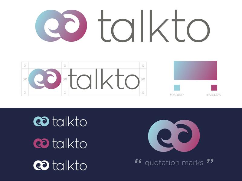 Quotation Marks Logo quotation marks quotes minimal logotype logo design logo branding brand design vector graphic design