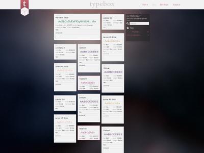 Typebox user bookmarklets page