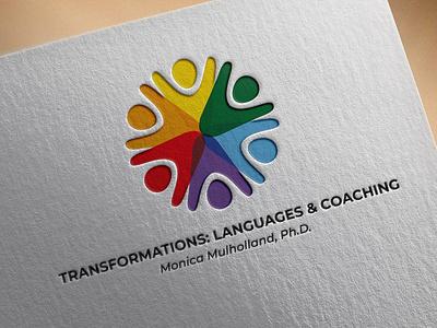 Transformations: Language & Coachin Logo Design logo branding