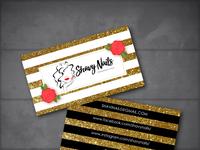Shavy Nails Business Card Design