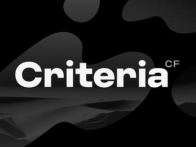 Criteria CF - geometric circular sans font branding ui logo lettering geometric bold connary fagen typeface typography font
