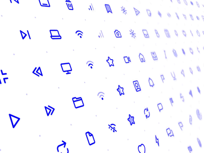 Friendly Line Icon Set components library sketch figma design ui iconography set icon set icons
