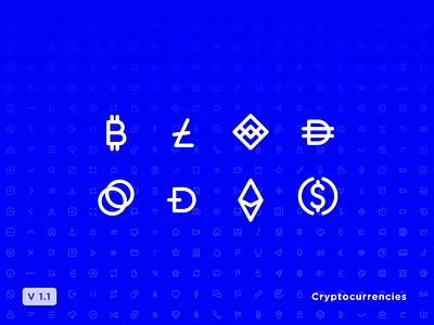 ⬆️ Icon Set Update V1.1 icon pack ethereum bitcoin iconography icon design social media crypto icon set iconset icons