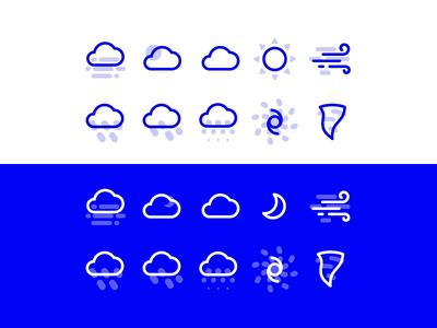 Premium Weather Icon Set gif ios premium design weather vector app ux web minimal free icon ui animation