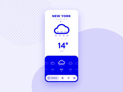 Weather App Concept ux app flat minimal interaction icon ios animation ui weather