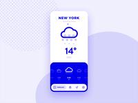 Weather App Concept ux app flat minimal interaction icon ios animation ui weather