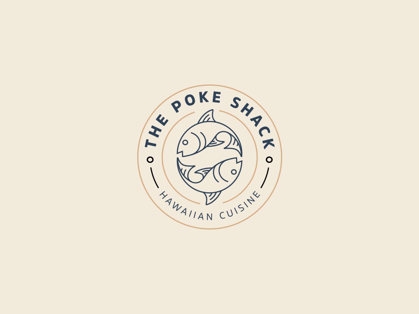 The Poke Shack tuna shack type symbol vector design restaurant food hawaiian miami hawaii poke branding design branding brand logoseeker logosai logos logo design logo