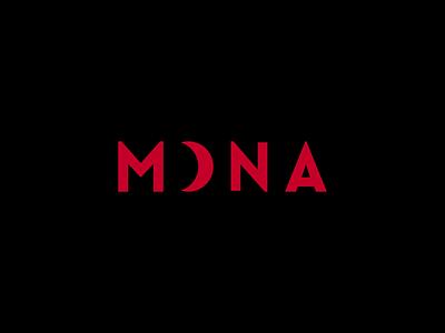 MONA Logo Design 🌛 animation retro circle logo circle horror spooky creepy darkness dark sky night full moon moon red identity branding brand logo design logotype logo