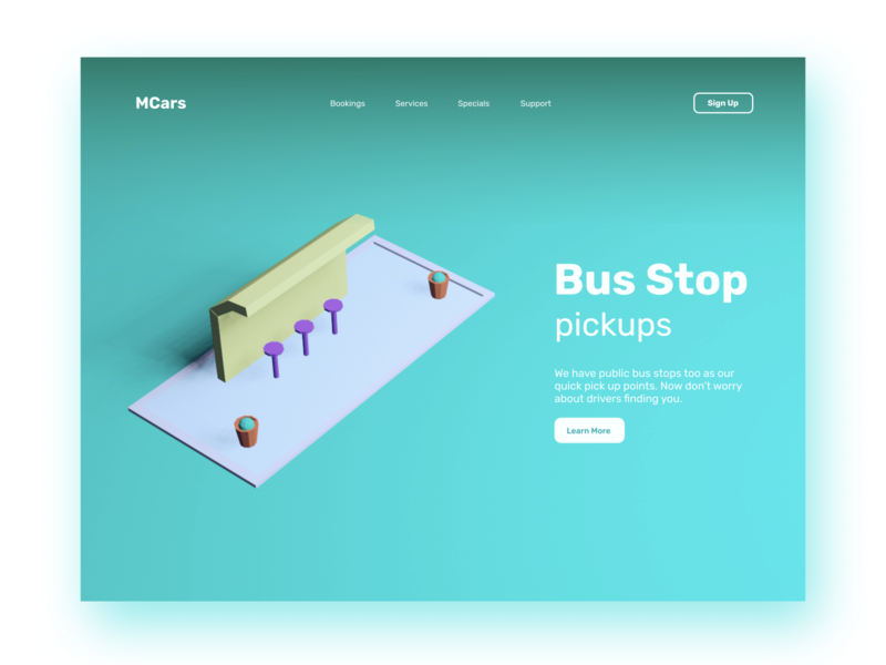 Mcars - Mobility Taxi Website illustration clean minimal 3d illustration 3d website driver app taxi booking app car booking booking 3d art mobility 3d 2020 modern cleanui