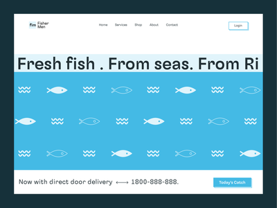 FisherMen - Fish Sales Website typography minimal webdesign website ecommerce online food ordering online food delivery fishermen online store online shop online food online food order fishes fisherman fishing fish