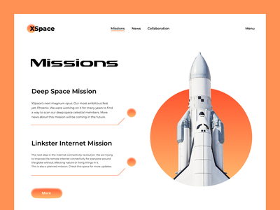 XSpace - Space Agency Website 2021 trend typography cleanui minimal modern aerospace rover spaceman deep space space launch tesla spacex nasa rocketship rocket space agency space tech spacetech spaceship space