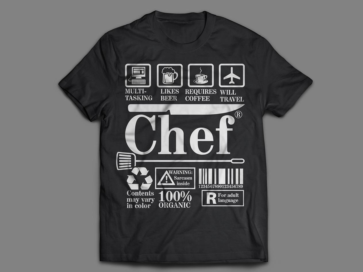 Chef T-shirt Design chef t-shirt t-shirt illustration colthing typography t-shirt design t-shirt