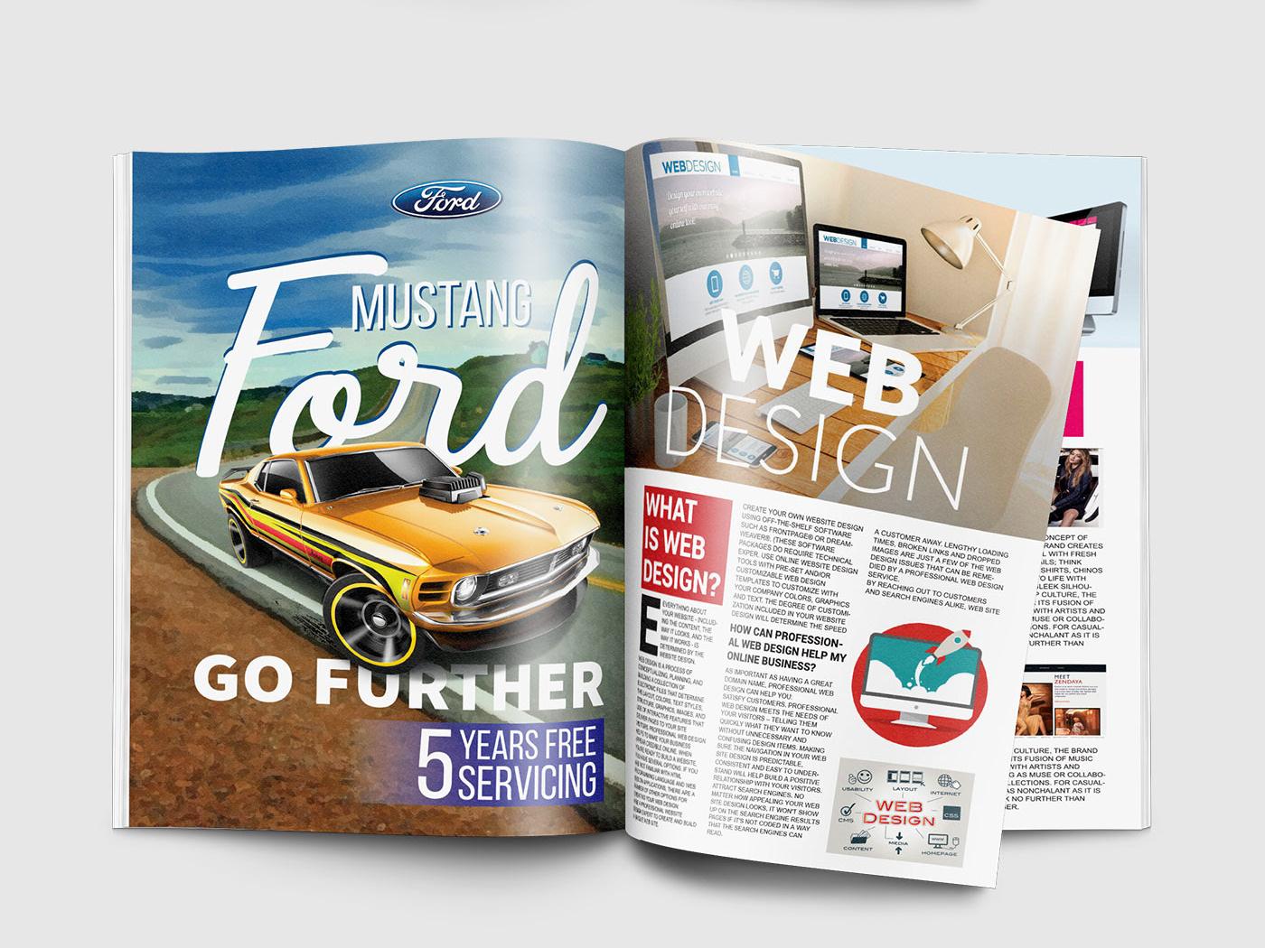 Magazine and Advertisement Layout advertisements advertisement magazine ad magazine cover magazine design magazine